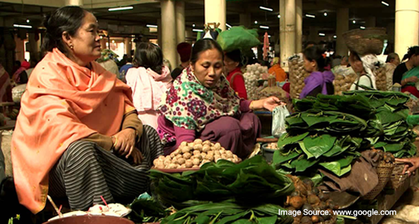 The 'Mother's Market in Imphal- Option 1