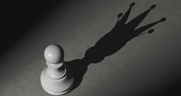 Pawn with shadow of the king